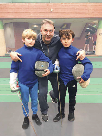 Dmitry Leus at the Brixton Fencing Club